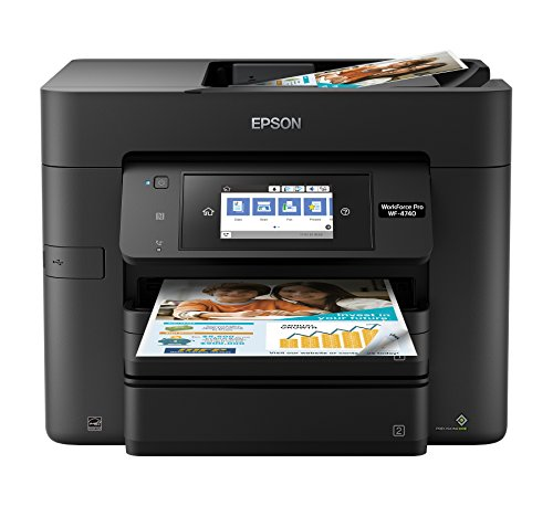 Epson WorkForce Pro WF-4740 Wireless All-in-One Color Inkjet Printer, Copier, Scanner with Wi-Fi...