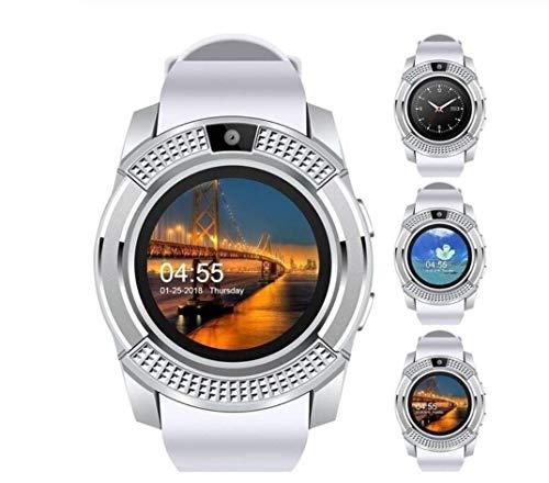 Luxus Smart Watch, Smartwatch mit Herzfrequenzmessung am Handgelenk, ip67 wasserdicht, Fitness Armband Uhr mit SIM Karte, Kamera, Android/IOS
