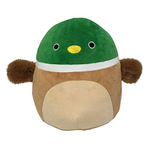 Shuliang 20cm süßes Plüschtier, 3D Cartoon Green Duck Kissen, weiches Lendenkissen Plüsch Plüschtier, für zu Hause Wohnzimmer Sofa Schlafzimmer Kissen, Geschenk für Kinder Junge Mädchen