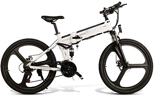 Bicicleta de montaña eléctrica, Plegable de la energía de la batería de litio bicicleta eléctrica de alimentación a campo través de bicicletas de montaña ligero inteligente de cercanías de fitness 48V