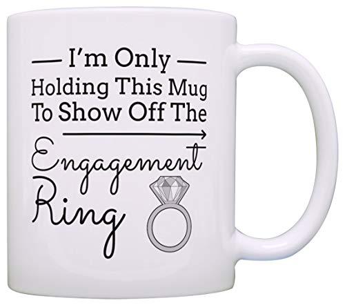 Sp567encer Verlovingsgeschenken Ich Halte nur Deze mok, om de verlovingsring te doen verlovingsherinnering M111135
