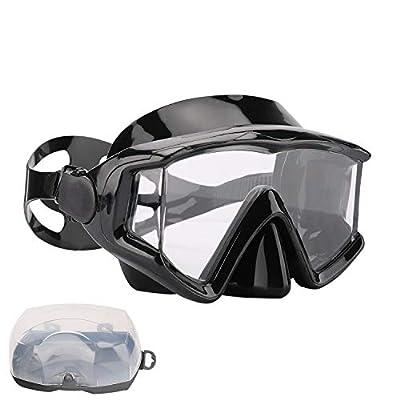 AQUA A DIVE SPORTS Scuba Snorkeling Dive Mask for Scuba Diving Snorkeling Free Diving Swimming Goggles(PC Lens Black)