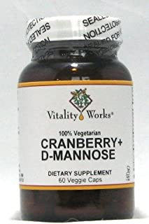 Cranberry + D-Mannose Vitality Works 60 Caps