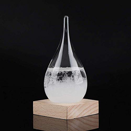 Decoratieve flessen, kantoor Stormglass Creative Teardrop storm glazen fles Desktop Weerstation Weer Predictor,White
