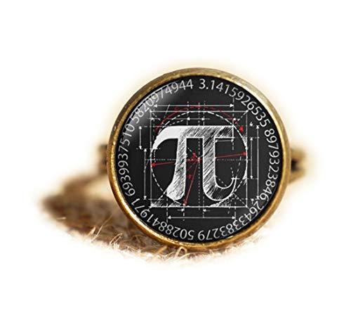 Beautiful Dandelion Anillo de matemáticas matemáticas, joyería de ciencia, joyería Pi