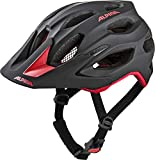 ALPINA CARAPAX 2.0 Fahrradhelm, Unisex– Erwachsene, black-red, 57-62