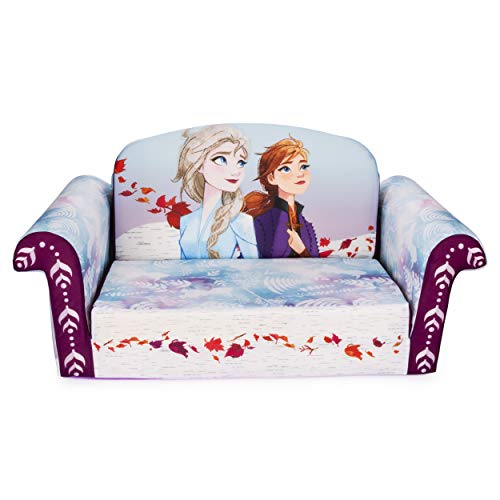 Marshmallow Furniture 2-in-1 Flip Open Couch Bed Sleeper Sofa Kid's Furniture for Ages 2 Years Old and Up, Disney's Frozen 2