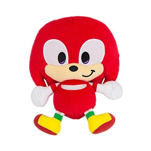 Sonic Emoji Plush, Happy Knuckles, Red