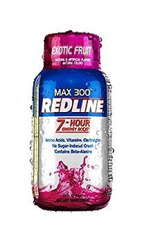 vpx Redline Power Rush 7-Hour Energy Max 3001 Shot Supplement Exotic Fruit 2.5 Ounce  Pack of 12