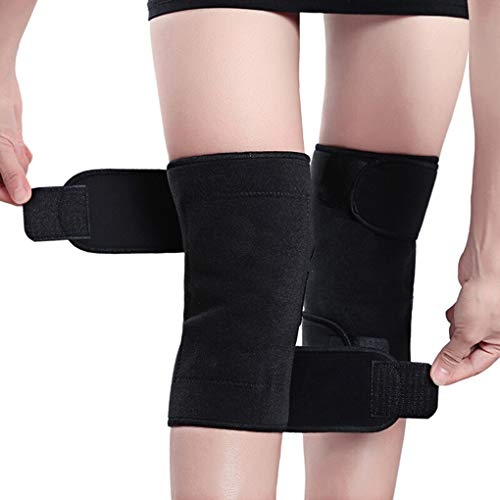 1Pair Toermalijn Self-Heating Knie Leggings Brace Magnetische Verstelbare Knee Massager Pads dragerhuls