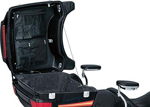 Kuryakyn 4134 Motorcycle Travel Luggage: Removable Trunk Lid Organizer Bag with Carrying Handles for Harley-Davidson Motorcycles with: King, Ultra, Chopped Tour-Paks, Black