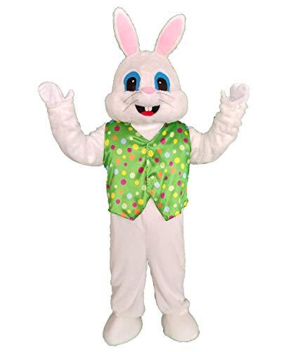 SANEYDER Disfraz de mascota de conejo de Pascua azul para adulto disfraz de Halloween