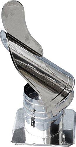 WARTO Chapeau de cheminée en Acier Inoxydable V4 A avec Plaque – Rotatif de schornsteinabdeckung – Diamètre 120 mm