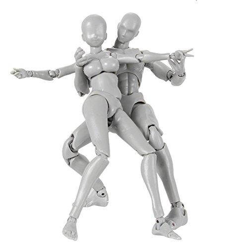Bewegliches Actionfigurenmodell, 2 Stück / Set Body-Chan DX Actionfigurenset, zum Modellieren oder Zeichnen, Geschenke Human Body Shape PVC 2.0 Kollektion