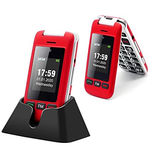 Artfone Flip Teléfono móviles para Personas Mayores con Teclas Grandes con...