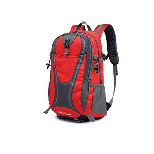 Adaly Simplicity - Zaino impermeabile antifurto con porta di ricarica USB, per notebook aziendali, per viaggi, scuola, applicabile (colore: rosso)