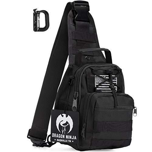 Dragon Ninja Tactical Sling Bag (Black)
