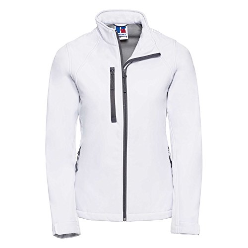 Russell 140F-30-l Damen-Softshell Jacke, Größe L, weiß