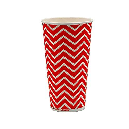 Pack & Cup Eco Einwegbecher Pappbecher für Kaltgetränke Lollipop 500 ml (20 OZ) 50 Stück