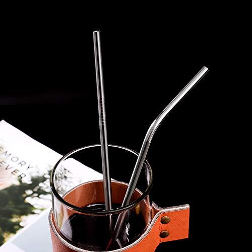 "VEHHE Metal Straws Stainless Steel Drinking Reusable FDA BPA 10.5/"" Ultra Long"
