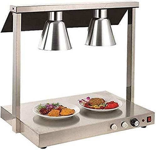 PIVFEDQX Lámpara para Calentar Alimentos, lámpara de Calor para Restaurante de Comida Tipo Buffet, Equipo de Cocina, Cabezal Doble 220 V 1000 W