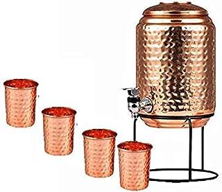 Royal sapphire Pure Koper Water Pot Dispenser Matka Water Tank Water Opslag Capaciteit: - 1697 oz voor gebruik Opslag Drin...