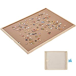 """Standard Size: 34""""×26"""", Puzzle Board, Puzzle Table, Puzzle Tables for Adults, Puzzle Table, Puzzle Tray with 4 Storage Bags by Rose Home Fashion"""