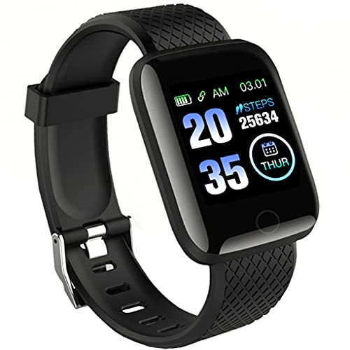 ZapTech D116 Plus Bluetooth Smart Fitness Band Watch with Heart Rate Activity Tracker Waterproof Body, Step and Calorie Counter, Blood Pressure, OLED Touchscreen for Men / Women (12 Months Warranty )