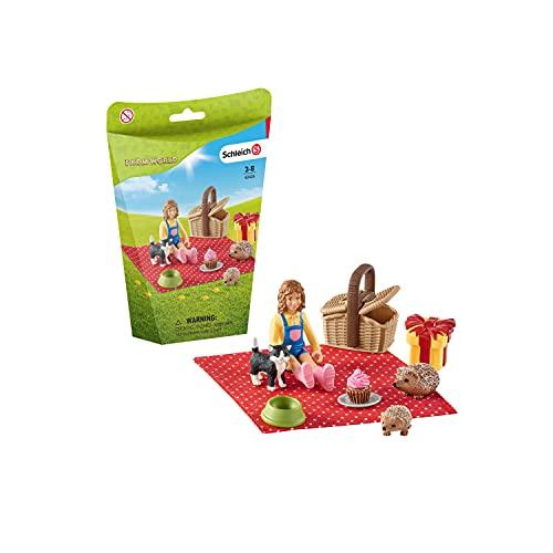 Schleich Farm World  10-Piece Playset  Farm Toys for Kids Ages 3-8  Birthday Picnic Toy Set