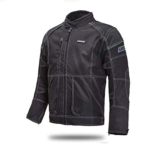 Moto Veste De Homme Équipements Protection Femme Imperméable Blouson Motard Veste Armure, Black-L