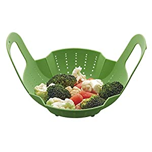 Instant Pot Official Silicone Steamer Basket, Compatible with 6-Quart and 8-Quart Cookers, Green