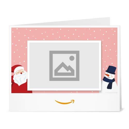 Buono Regalo Amazon.it - Stampa - Carica una foto - Babbo Natale e pupazzo di neve