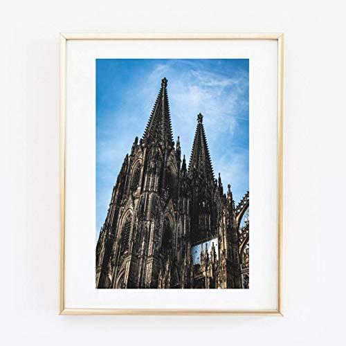 Din A4 Kunstdruck ungerahmt Köln - Kölner Dom - Kirche Cologne Foto Fotokunst 21x30 cm Druck Poster Bild