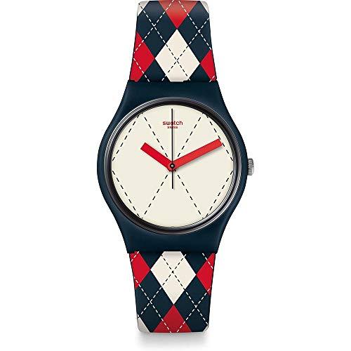 Orologio Swatch Gent GN255 Al quarzo (batteria) Plastica Quandrante Multicolor Cinturino Silicone