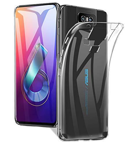 Capa A-VIDET para ASUS ZenFone 6 (ZS630KL), Capa protetora de TPU protetora de silicone ultra fino, leve para o ASUS ZenFone 6 (ZS630KL) (transparente)