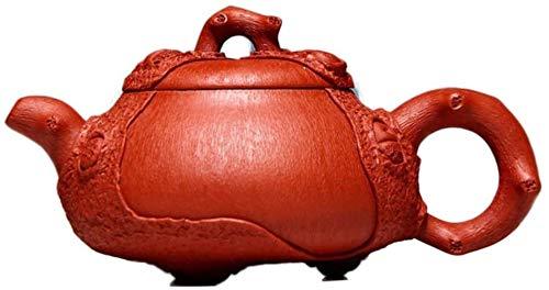 Hierro Fundido Ajustado Piel electrónica multímetro Yixing Completa Hecha a Mano Original del Mineral Red Dragon Spring Piedra Cucharada 180 ml Tetera Arena Pot (Color: Dragón Rojo) Inicio Decorati