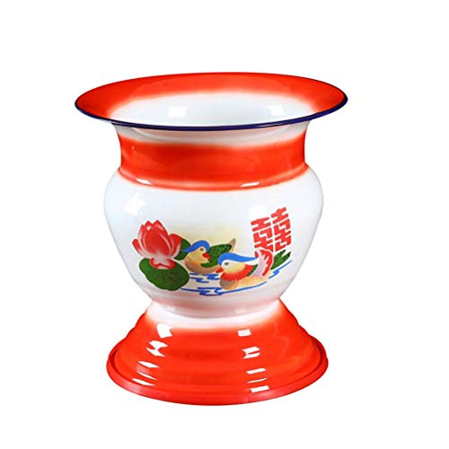 J-ouuo Frutero tradicional chino de los años 60, estilo vintage, esmaltado, para la cocina, decoración antigua, cuenco para frutas y verduras