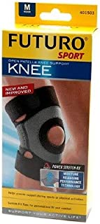 Futuro Sport Moisture Control Knee Support Medium Black (Pack of