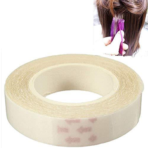 Ogquaton 1 rouleau de ruban adhésif double face imperméable à l'eau de cheveux perruque d'extension de ruban adhésif de colle durable et utile