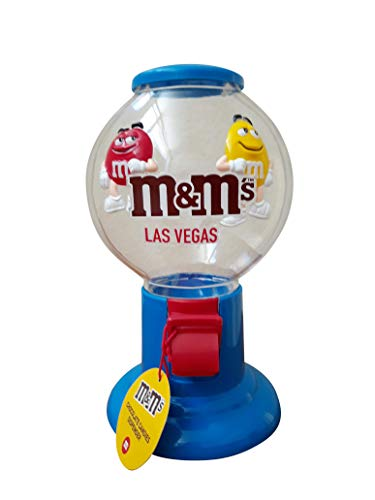 M&M Candy Dispenser Pull Lever and Dispense M & M Candy as Shown with Red and Yellow