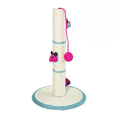GBY Katzen Klettergerüst, Massivholz Kratzbaum, Tongtianzhu Katzensprungplattform, Katzenkratzbrett, Katzenspielzeug Katzenkratzbaum, für den Innenbereich von Katzen geeignet, 30 * 30 * 47cm-Cyan