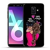 LIUYAWEI Cas de téléphone de Fille de Super-Maman de Famille de Mode pour Samsung Galaxy A20 A30...