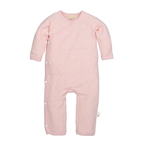 Burt's Bees Baby baby girls Romper Jumpsuit, 100% Organic Cotton One-piece Coverall Sleepers, Blossom Quilted Kimono, 0-3 Months US