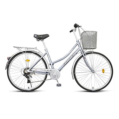 Bicicletas, bicicletas de velocidad variable, ruedas de 24 pulgadas y 7 velocidades de velocidad variable, marco de aleación de aluminio de poca envergadura, que se utiliza para ir al trabajo