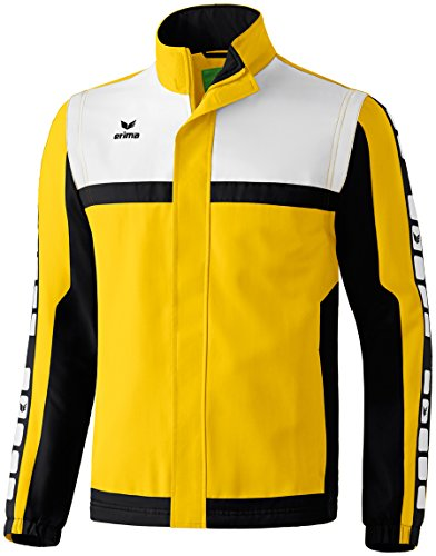 Erima Kinder Classic 5-C Sportsjacke, gelb/schwarz/weiß, 164