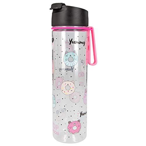 Depesche 7752 Trinkflasche aus Kunststoff, frei von BPA und Phthalaten, ca. 500 ml, TOPModel Candy Cake