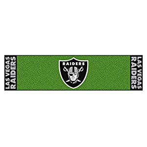 FANMATS 9024 NFL - Las Vegas Raiders Putting Green Mat 18in. X 72 in., Team Color by Sports Licensing Solutions