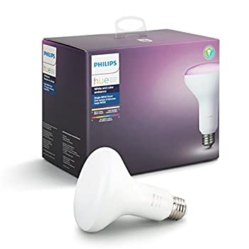 Philips Hue White and Color Ambiance BR30 60W Equivalent Dimmable LED Smart Flood Light 1 Smart Bulb Works with Alexa Apple HomeKit and Google Assistant  All US Residents