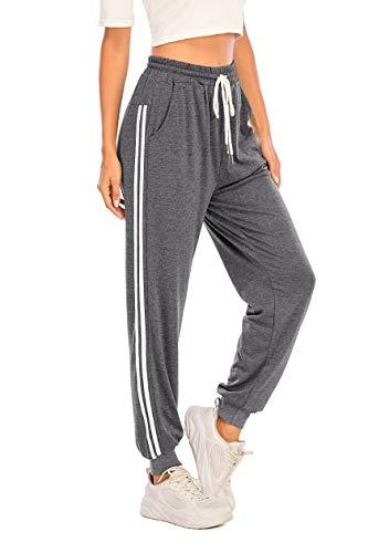 Pantalón Largos Mujer Chándal Deporte para Yoga Running Fitness Jogging Danza Pijama de Interior Grandes Deportivos Casuale