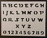 Custom Stencil Star Wars Font Alphabet Letters #2 8.5 x 11